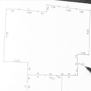 Y tomamos medidas de todos los segmentos del polígono que hemos dibujado.
